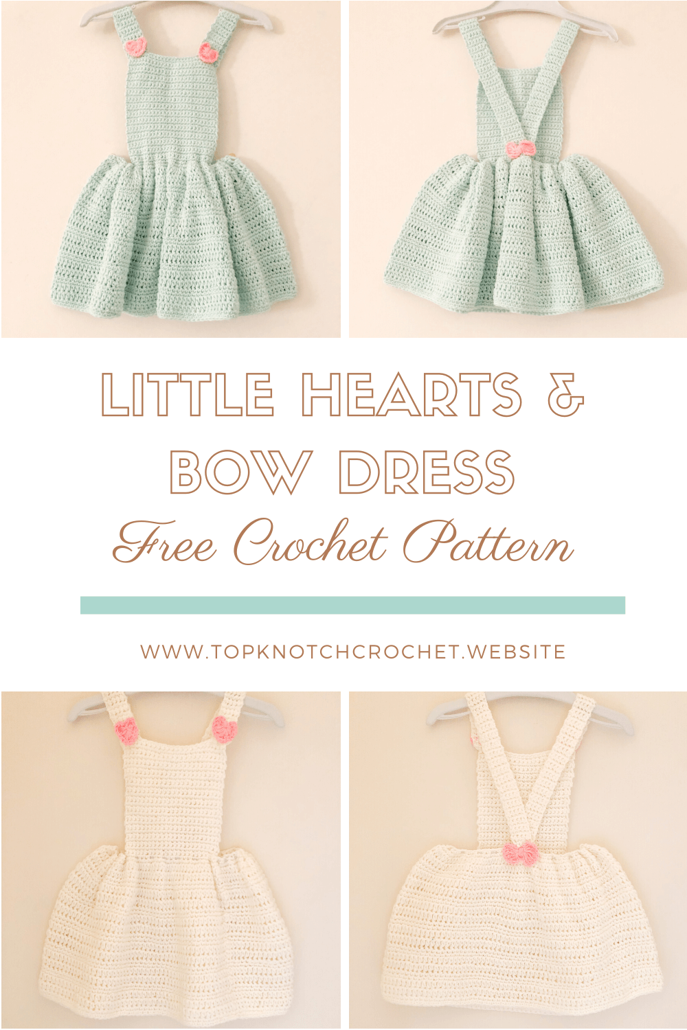 Crochet Dress Pattern – Little Heart and Bow Dress