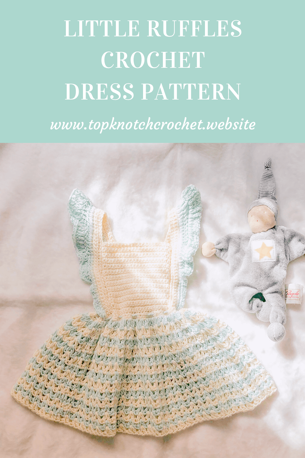 Crochet Dress pattern with little Ruffles