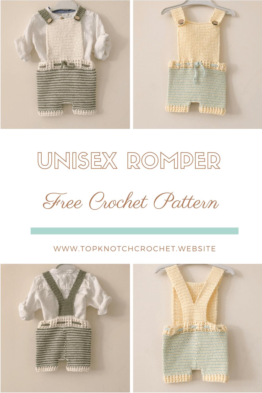 Free Crochet Pattern – Unisex Baby Romper