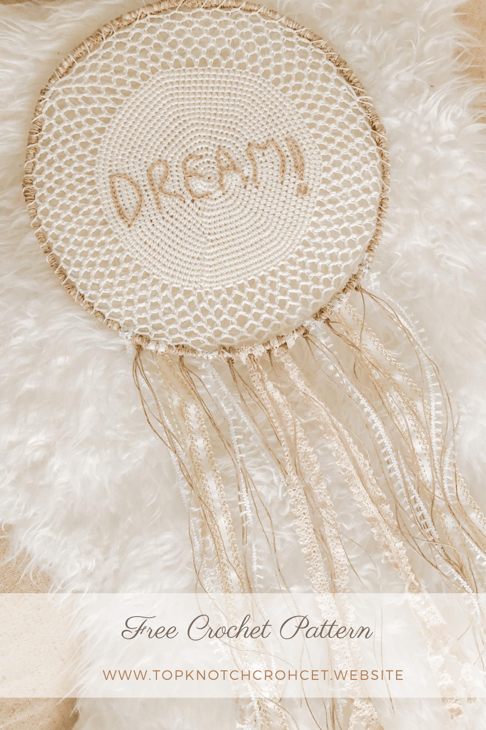 Dream Catcher Free Boho Crochet Pattern