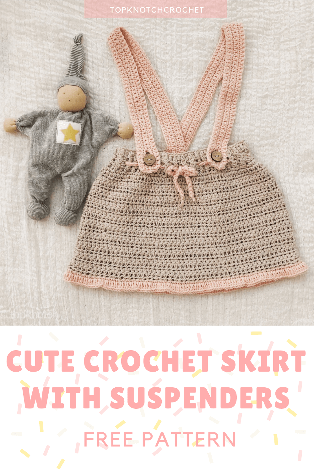 Crochet Skirt with Suspenders- Free Pattern.