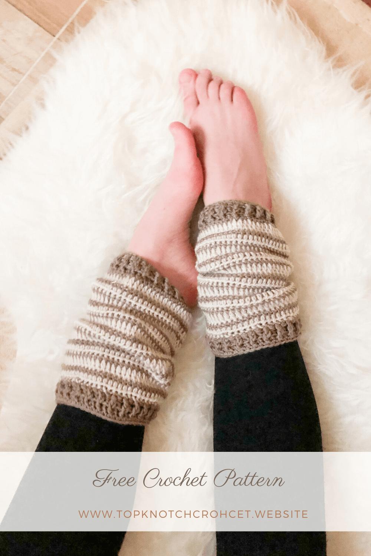Slouchy Crochet leg warmers Free Pattern