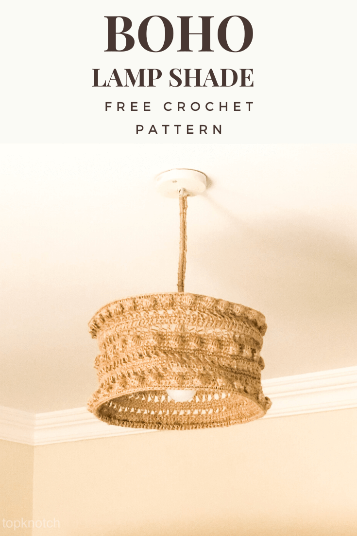 Boho Crochet Ceiling lamp shade – Free pattern.