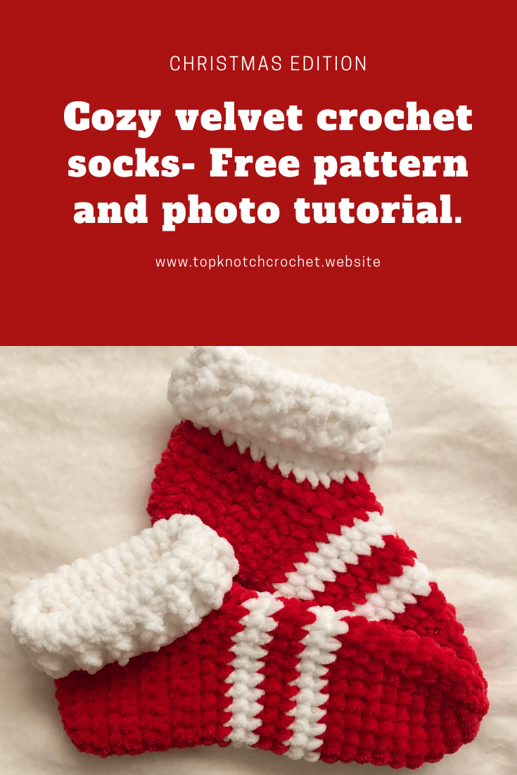 Velvet Socks Christmas Edition-Christmas Crochet Pattern
