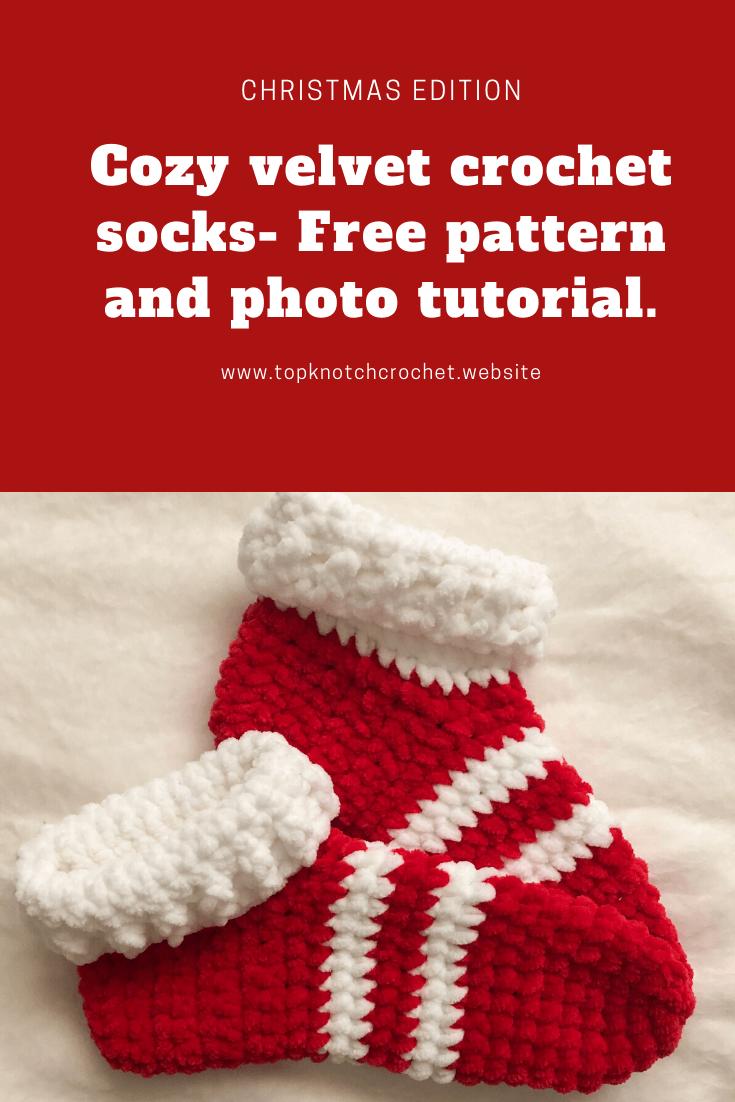 Velvet Socks Christmas Edition-Christmas Crochet Pattern