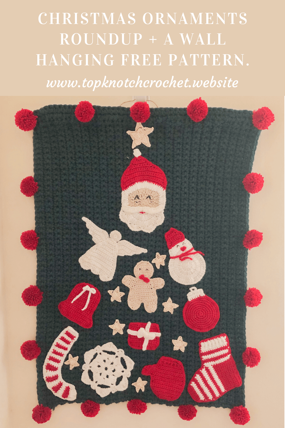 Christmas Ornaments Roundup Plus a Wall Hanging Free Pattern.