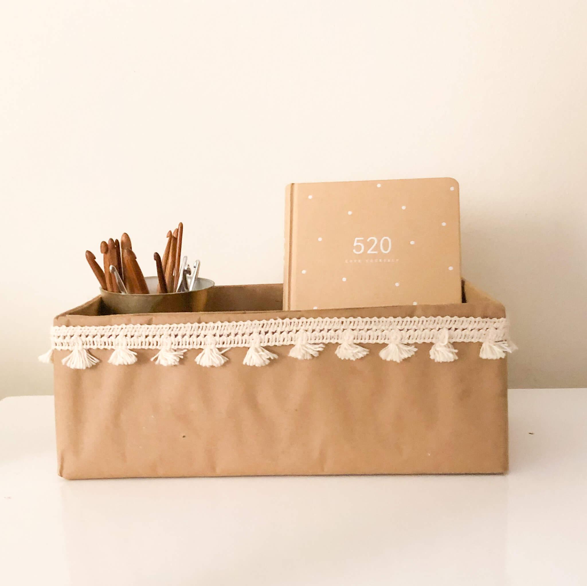 DIY Box / Desk Organizer – Photo Tutorial.