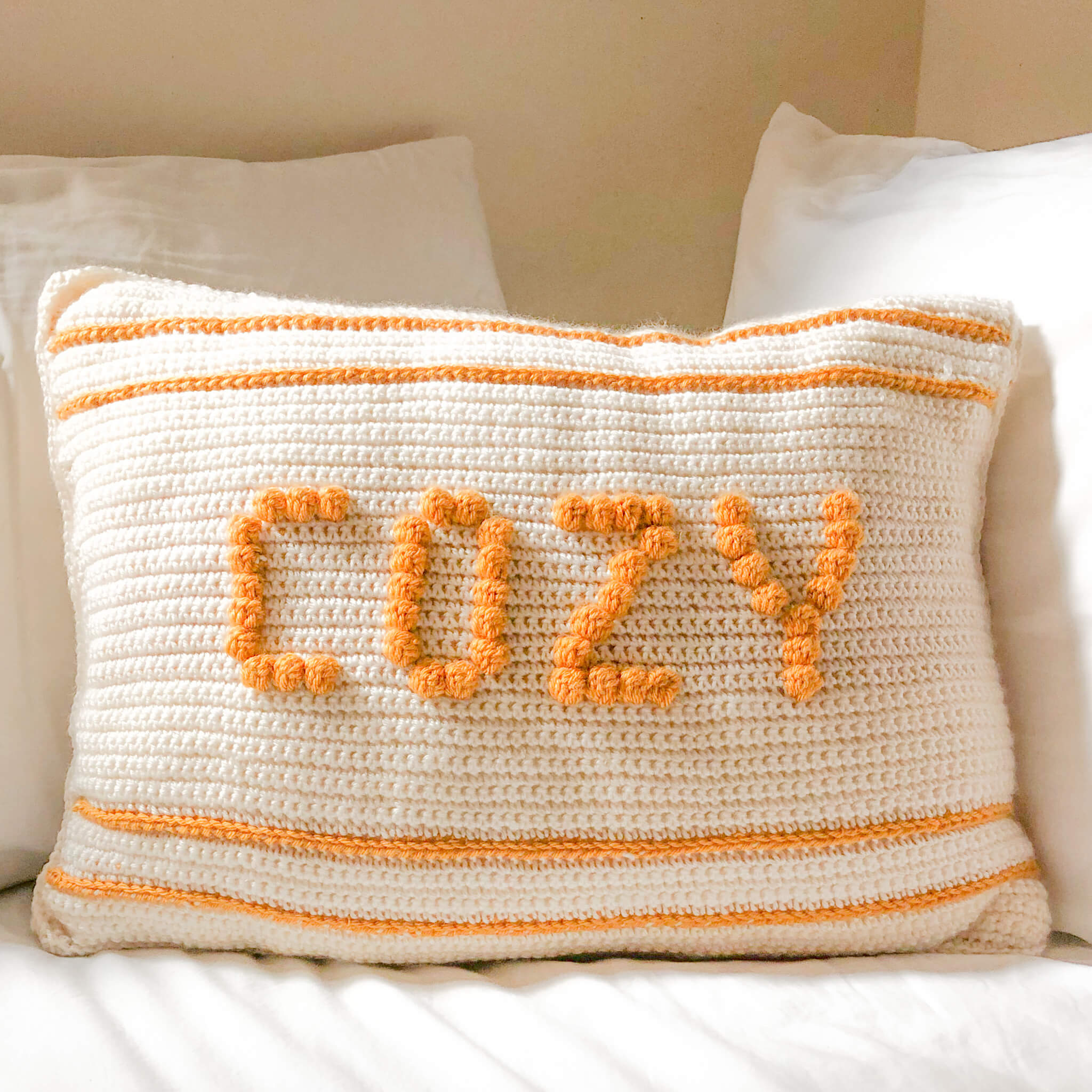 Cozy Crochet Cushion – Free Pattern.
