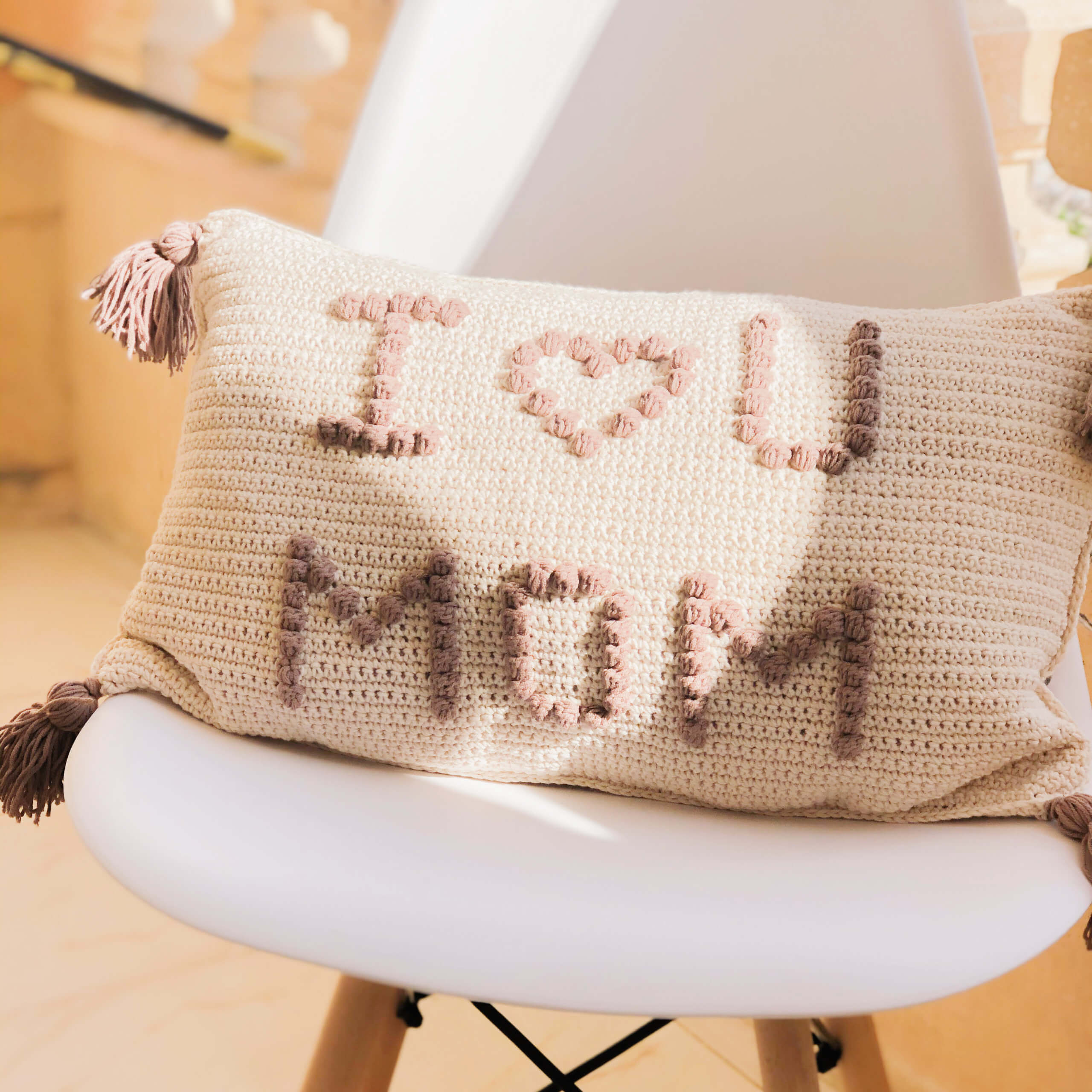 Mother's Day Crochet Gift- Free Cushion Cover Pattern!