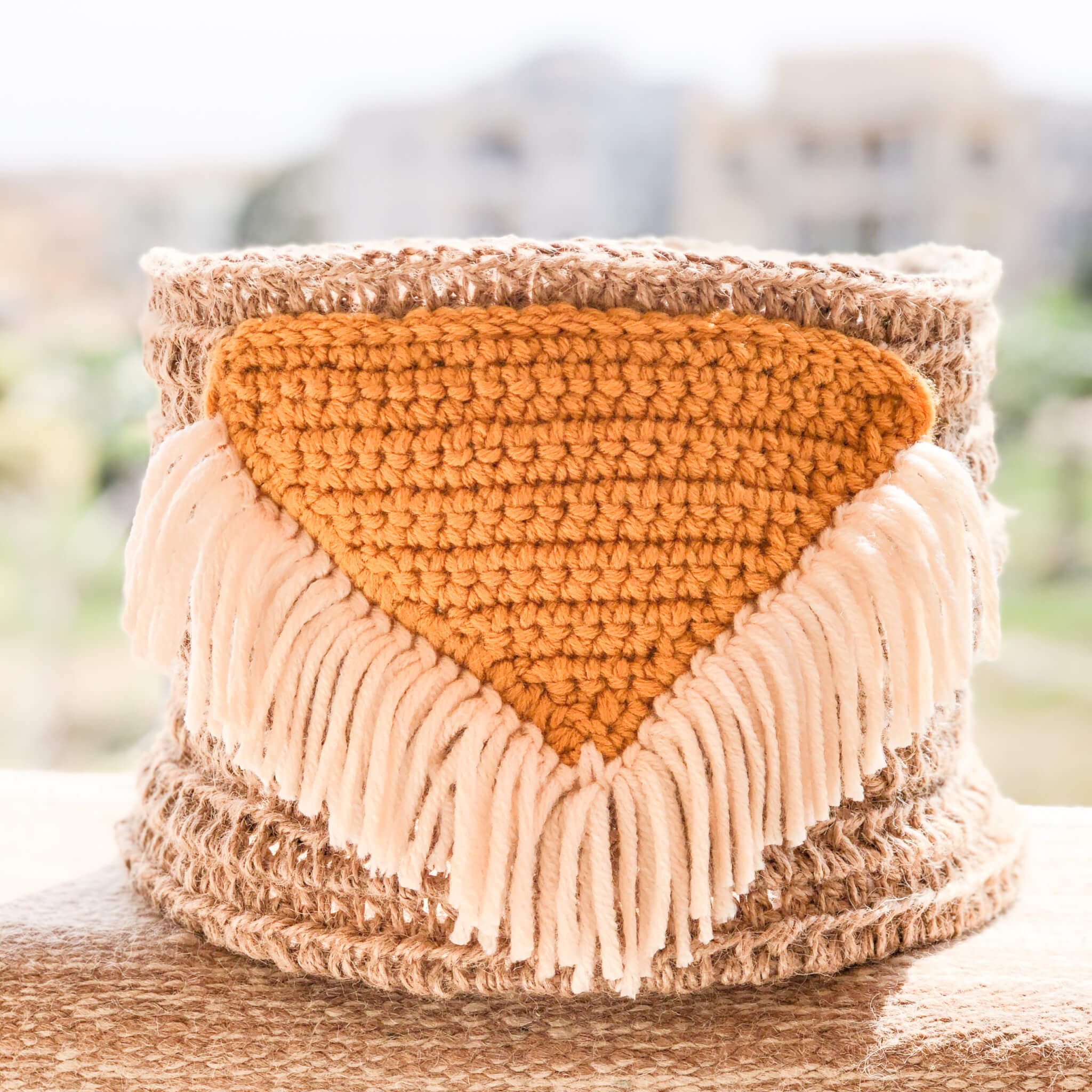 Crochet Basket- Boho baskets Free pattern