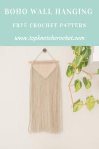 Boho Crochet Wall Hanging- Easy Free Crochet Pattern