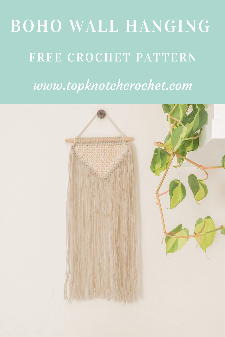 Boho Crochet Wall Hanging- Easy Free Crochet Pattern