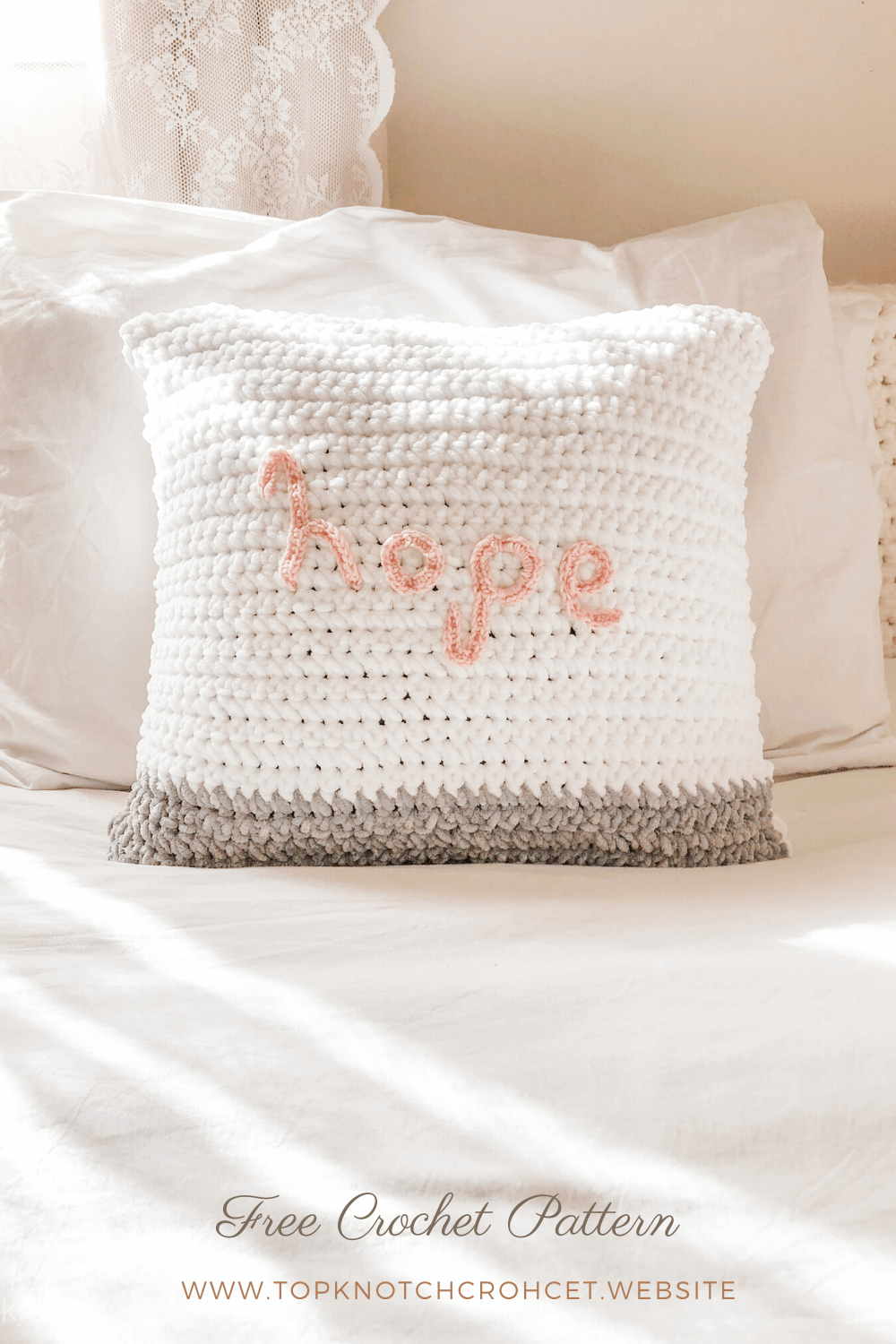 Crochet Pillow Case Pattern with Fluffy Velvet Yarn