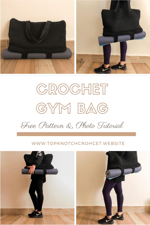 Crochet Gym Bag- Free Pattern & Photo Tutorial