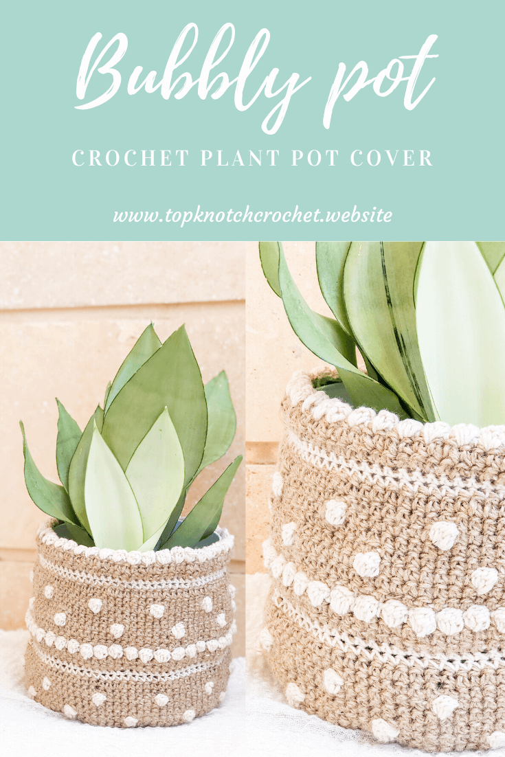 plant pot cover by topknotch crochet pin2
