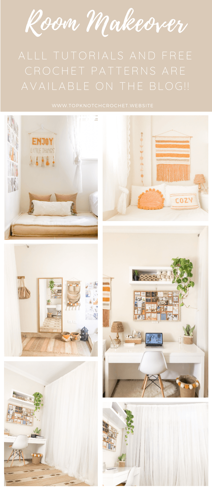 DIY Room Makeover – Using Crochet and Yarn crafts!