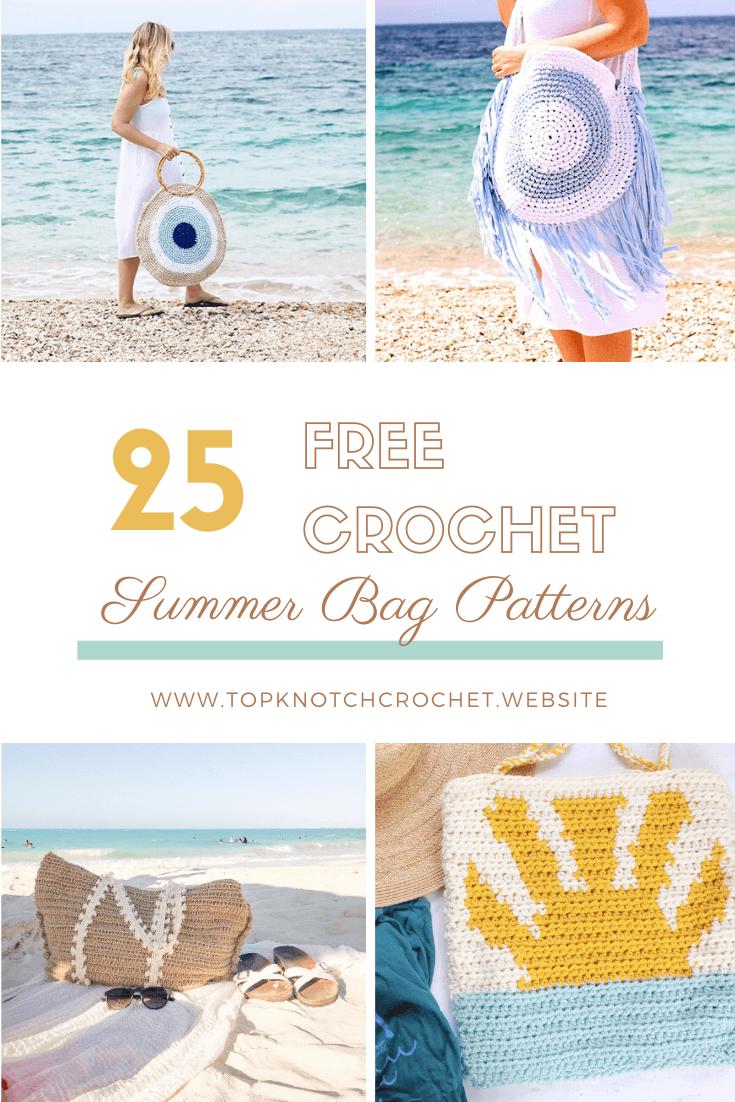 25 Free Crochet Summer Bag Patterns