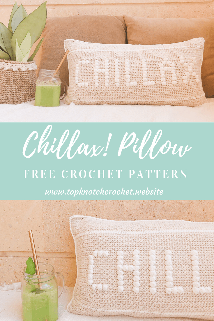 CHILLAX! Free Crochet Pillow Pattern!