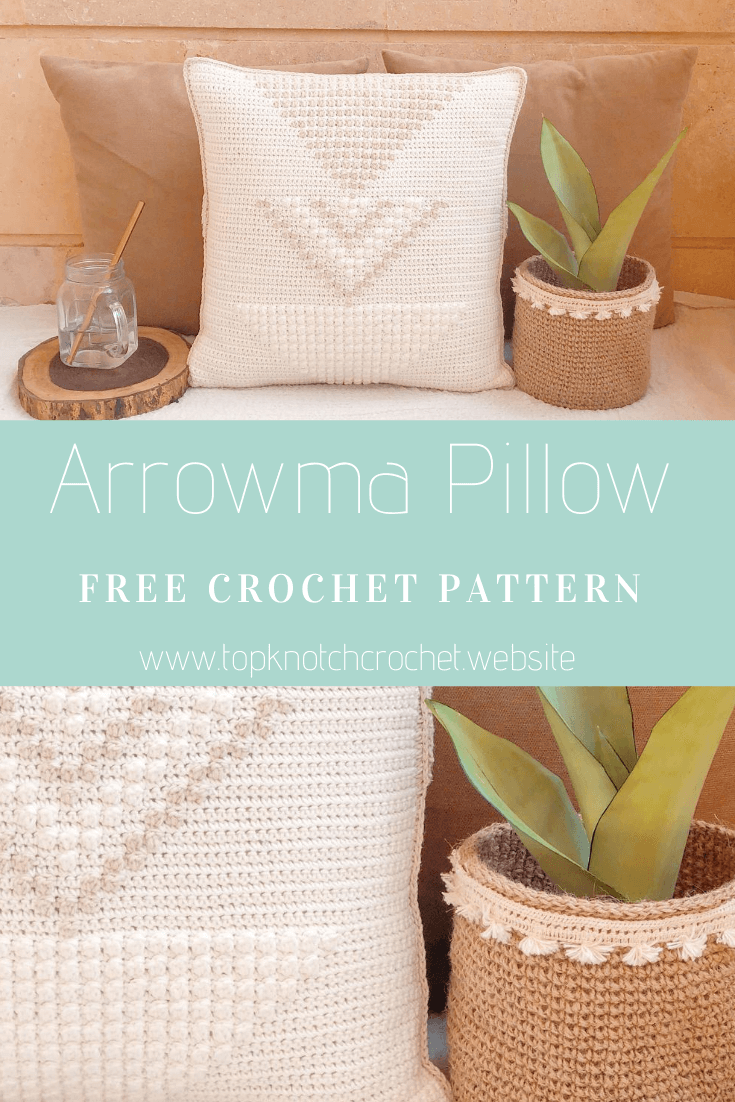 ARROWMA Pillow- Free Crochet Pillow Case Cover.