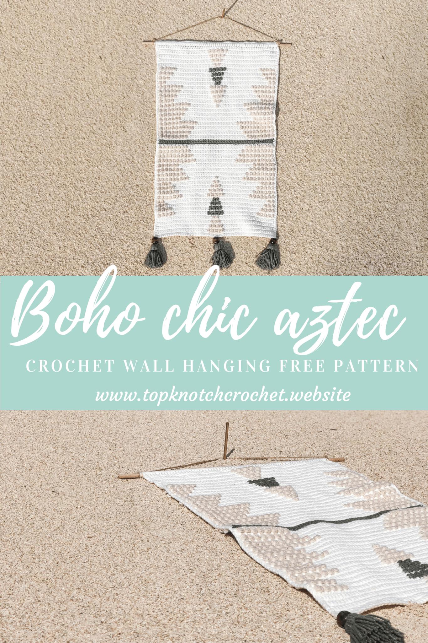 Boho Chic Aztec Crochet Wall Hanging Free Pattern