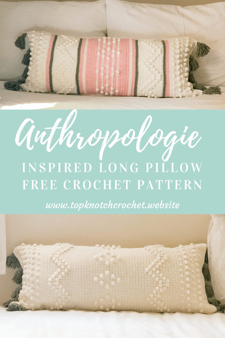 Anthropologie Inspired crochet pillow – Free pattern